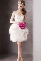 Короткие красные свадебные платья