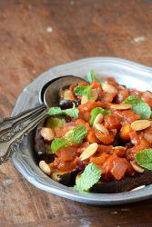 Смажені баклажани з помідорами