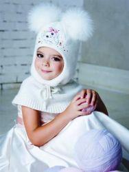 Шапка шлем для девочки