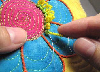 техника вышивки бисером 29