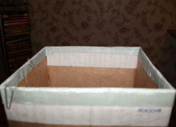 напольная ваза из картона3