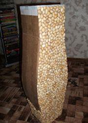 напольная ваза из картона6