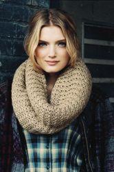 вязать шарф хомут спицами