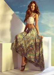 юбка из штапеля