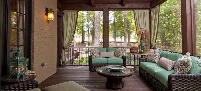 Дизайн веранда в доме