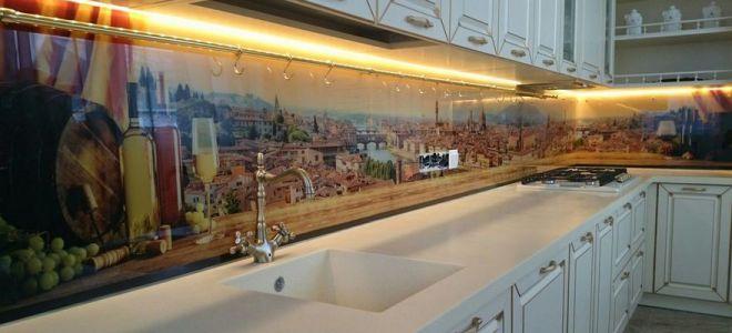 Стеклянный фартук для кухни природа картинки
