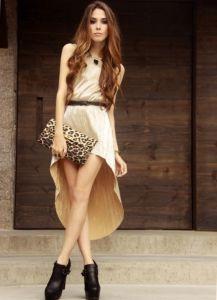 с чем носить бежевое платье6