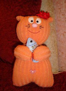 Мягкая игрушка кот своими руками фото 6