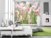 1. Фотообои тюльпаны в интерьере