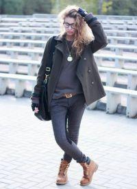 с чем носить женские ботинки тимберленд2