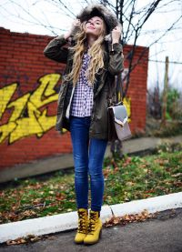 с чем носить женские ботинки тимберленд3