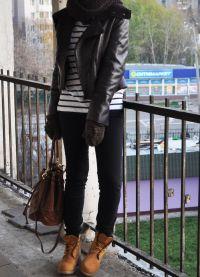 с чем носить женские ботинки тимберленд6