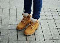 с чем носить женские ботинки тимберленд7