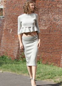 Костюм юбка и кофта16