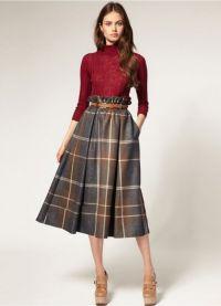 Костюм юбка и кофта3