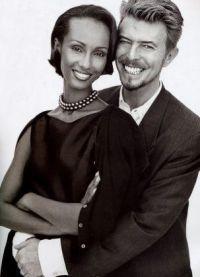 Молодой Дэвид Боуи с супругой