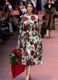 цветочный принт в одежде 2016 1
