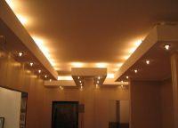 Встроенные светильники в потолок из гипсокартона