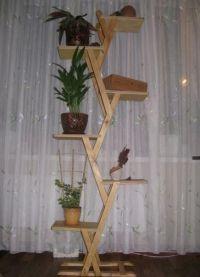 деревянные этажерки для дома15