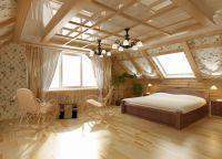 Шторы в деревянный дом
