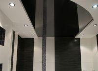 Черный натяжной потолок11