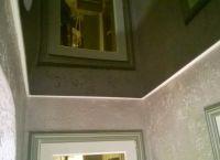 Черный натяжной потолок12