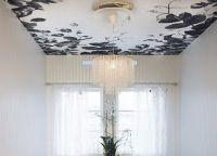 Черный натяжной потолок16