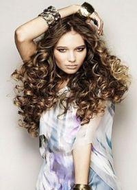 Красивые кудри на длинные волосы