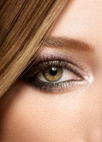 дневной макияж для каре зеленых глаз 1