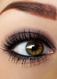 дневной макияж для каре зеленых глаз 2