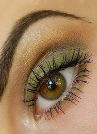 дневной макияж для каре зеленых глаз 3