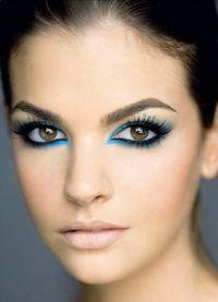 дневной макияж для каре зеленых глаз 5