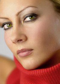 дневной макияж для каре зеленых глаз 6