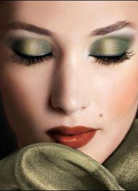 дневной макияж для каре зеленых глаз 8