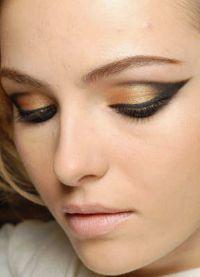 дневной макияж для каре зеленых глаз 9