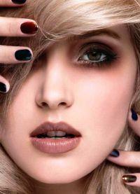 макияж с коричневой помадой 9