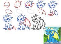 как нарисовать дракона 43