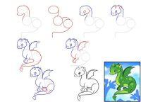 как нарисовать дракона 44