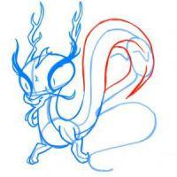 как нарисовать дракона 14