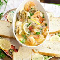 Суп из морского коктейля рецепт