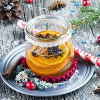 мандариновая настойка с корицей и ванилью