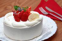 как украсить торт сливками 2