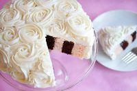 как украсить торт сливками 3