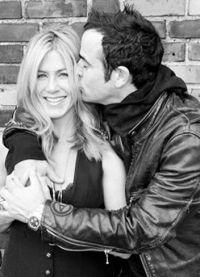 Дженнифер Энистон с мужем на фотосессии