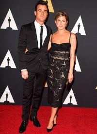 Дженнифер Энистон с супругом Джастином Теру