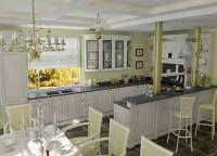 Кухня-гостиная с барной стойкой 1