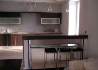Кухня-гостиная с барной стойкой 3