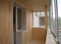 отделка стен ламинатом в лоджии 2