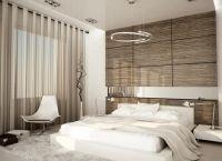 ламинат на стене в спальне 2