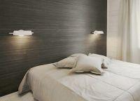 ламинат на стене в спальне 3